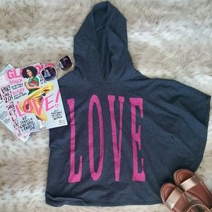 Tops - LOVE Hooded Cape Top | Size Medium